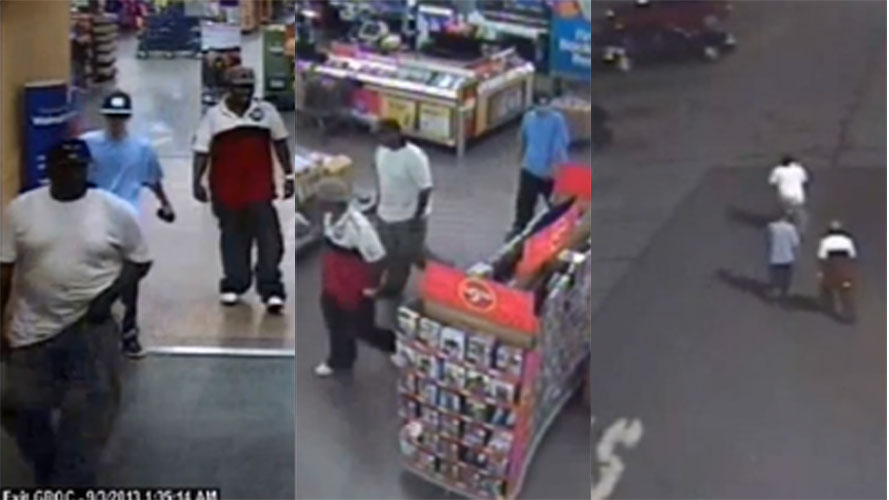 Thomasville police said they're searching for three people accused of stealing more than $12,000 worth of cell phones from Walmart.