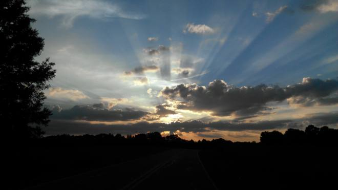 Clouds and Rays in Eden, NC by Sherry Harris