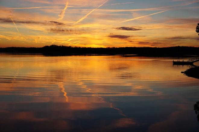 Sunset at High Rock Lake in Lexington, NC