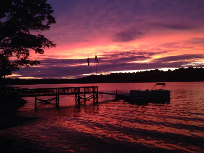Sunset on High Rock Lake (Christy Smith)