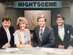 WGHP weekend news team from 1986-1987.