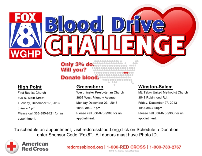 FOX8 Holiday Blood Drive Flyer