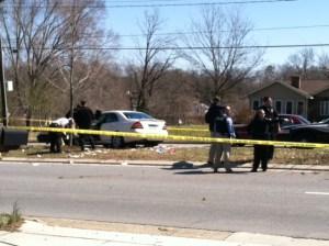 Accident scene near S. Elm Eugene (WGHP)
