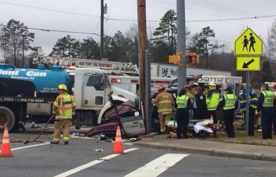 Crews on the scene of serious wreck in High Point. (WGHP)