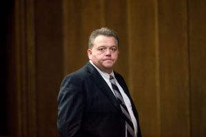 Billy Roger Bailey stands during a break in his trial. (Andrew Dye/Journal)