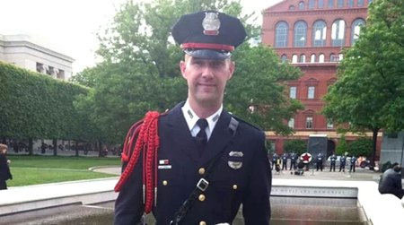 Officer Brian Jones is survived by his wife, two sons and a daughter. He was a 5-year veteran of the police force. (Source: WTKR)