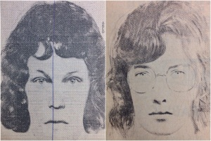 A composite picture of the mother (left) and a revised composite (right). (Winston-Salem Journal Archives)