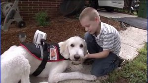 Ethan and his service dog Thor. (WSOC-TV)