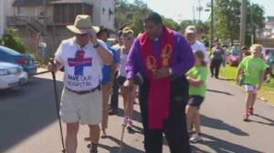 Belhaven Mayor Adam O'Neal is walking to Washington to draw attention to the closing of his small town's local hospital. (Image: WITN via NDN)