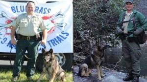 U.S. Forest Service Officer Jason Crisp and his K9 partner Maros (WSOC-TV)