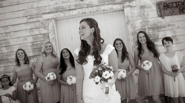 Brittany Maynard and bridesmaids at her wedding 9-29-14