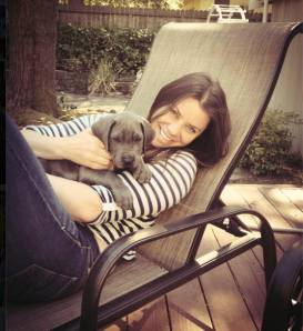 Brittany Maynard and her Great Dane Charlie late 2013