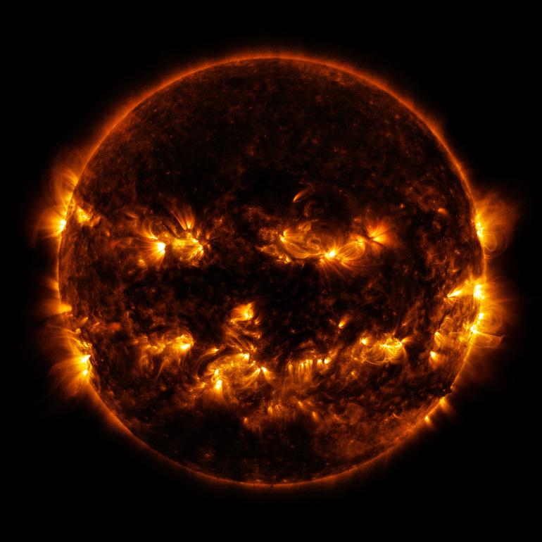 The Pumpkin Sun (Credit: NASA/GSFC/SDO)