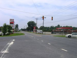 A view from the center of Climax, looking south on Highway 62. (Wikipedia)