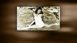 """A cropped photo from a press release from Dr. Eger's website captioned, """"Edie, the gymnast, before the war."""""""