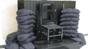 Firing squad at the Utah State Prison. (Credit: KSTU)