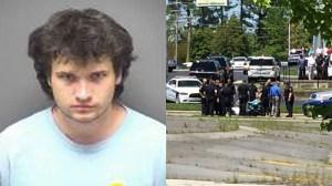 Left: Christopher Lee Long. Right: Scene of the arrest (Courtesy: Robert Helms)