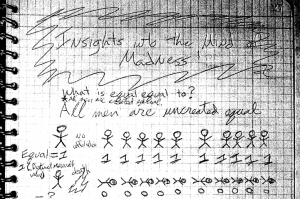 A page from the notebook kept by admitted gunman James Holmes leading up to the July 20, 2012 attack that left 12 dead and 70 injured. (Photo: Arapahoe County District Court)