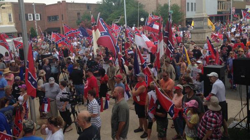 Officials estimated about 1,500 at the event.