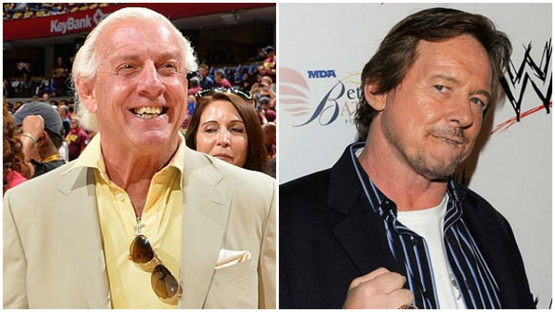 "Left to right: Ric Flair and ""Rowdy"" Roddy Piper, two legends of wrestling. (Getty images)"