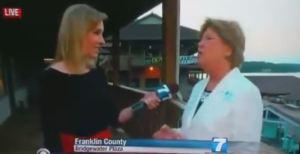 Allison Parker interviewing Vicki Gardner