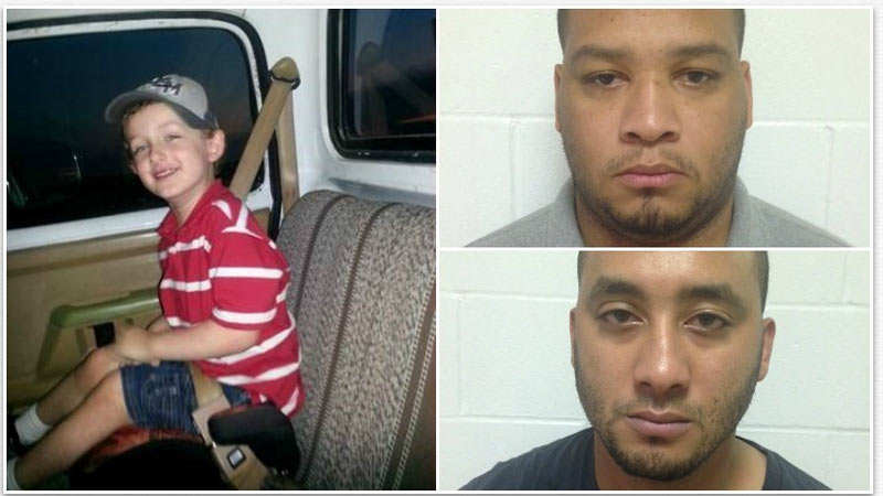 Left: The victim is 6 yr old Jeremy Mardis. Top right: Derrick Stafford, bottom right: Norris Greenhouse Jr.