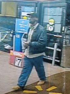 Photo of suspect in Winston-Salem red kettle theft at Peters Creek Parkway Walmart