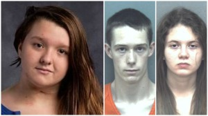 Suspects on right: David E. Eisenhauer, 18, and Natalie Marie Keepers, 19, face charges in connection to the death of 13-year-old Nicole Madison Lovell (pictured left).