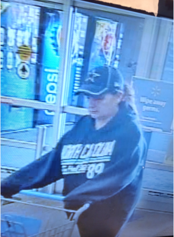 Photo shows suspect in Burlington purse snatching incident.