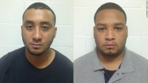 Officers Norris Greenhouse Jr., left, and Derrick Stafford are charged with second-degree murder in unknowingly striking and killing 6-year-old Jeremy Mardis in Lousiana.