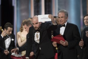 """Not only did """"Moonlight"""" pull out a surprise win over """"La La Land"""" for best picture, but their big moment came after presenters Warren Beatty and Faye Dunaway accidentally announced the wrong winner."""