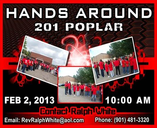 Hands around 201 Poplar