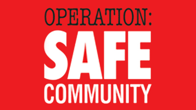 Operation Safe Community      red