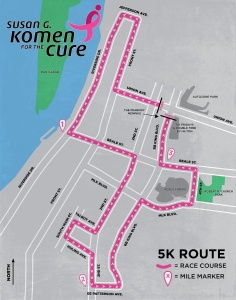 Race for the Cure Route