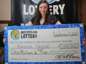 Amanda Clayton. AP Photo/Courtesy Michigan Lottery via Detroit News