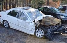 Christal McGee's Mercedes after the crash last September. Photo: State court of Spalding County, Georgia via CBS News