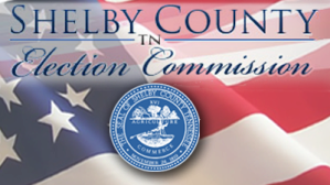 Shelby County Election Commission with Flag background