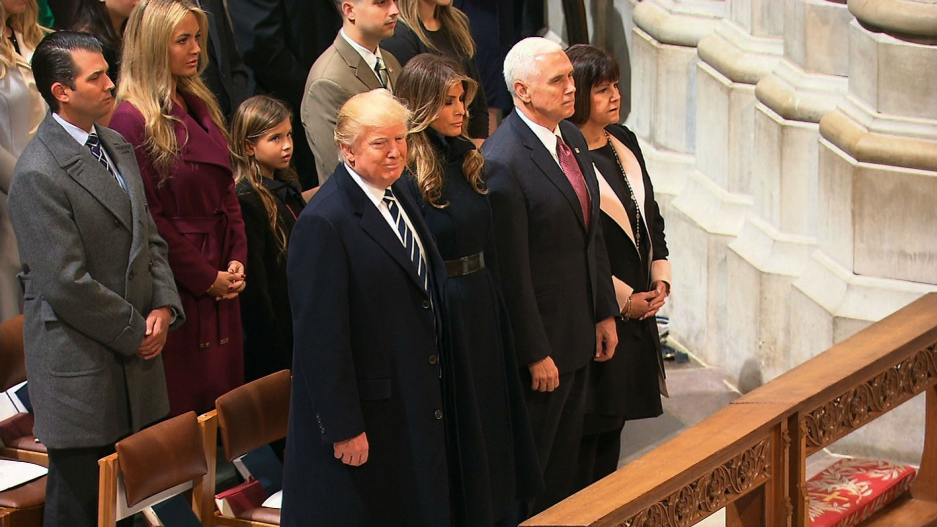 Trump at the National Cathedral for the 58th Presidential Inaugural Prayer Service on January 21st, 2017.