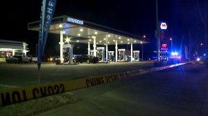 Marathon Gas Station shooting scene Sunday night