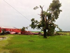 Storm damage Grundy county