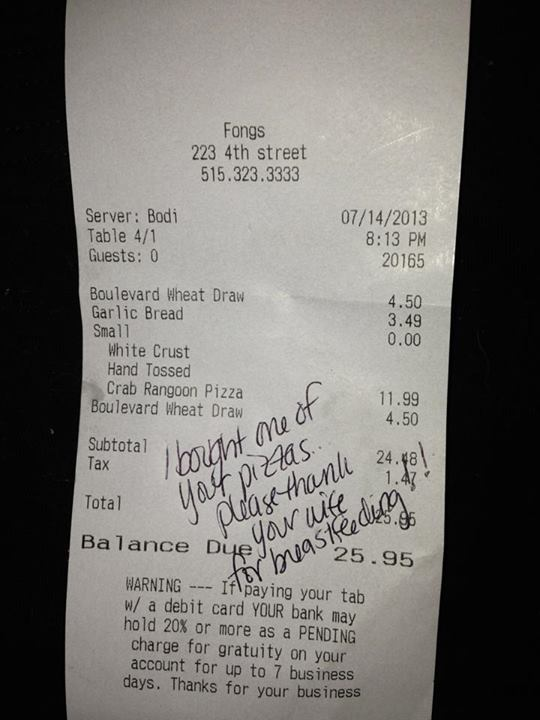 jackie johnson-smith breastfeeding receipt