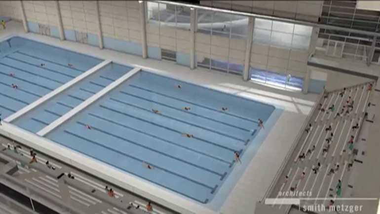 Rendering of pool at Wellmark YMCA.