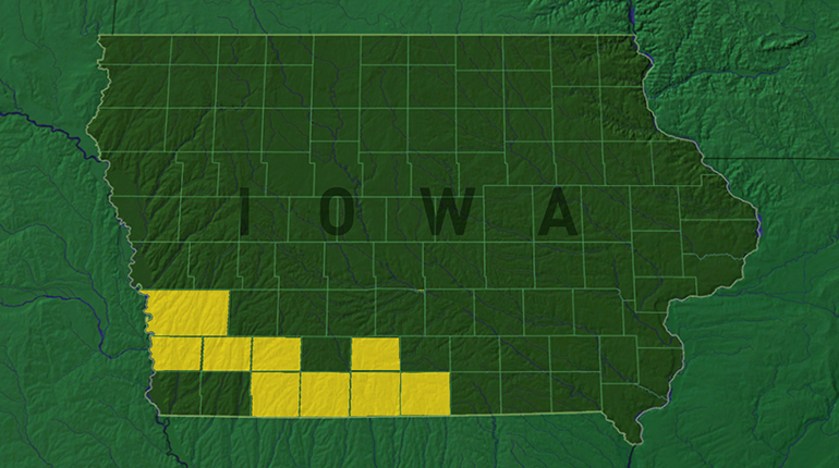 Iowa counties given Presidential Disaster Declarations on July 14th. (WHO-HD)