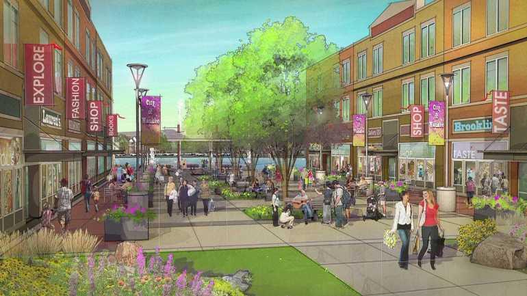 Artist rendering of Waukee's Kettleston development.