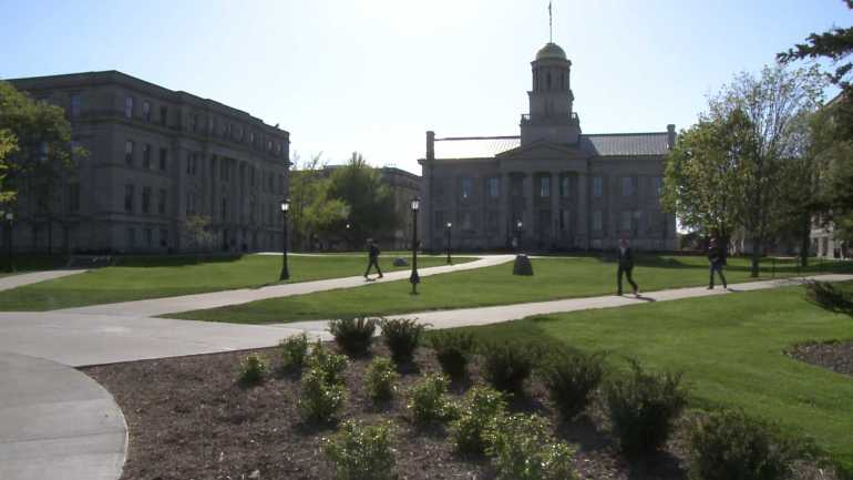 University of Iowa campus in Iowa City. (WHO-HD)