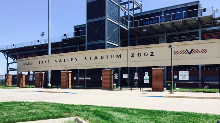 Valley Stadium in West Des Moines, Iowa, on Tuesday, August 19, 2014. (REID CHANDLER/WHO-HD)