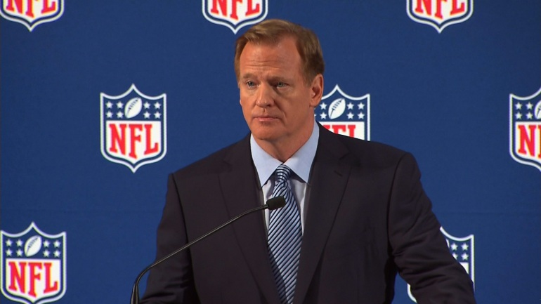 NFL Commissioner Roger Goodell held in press conference in New York on Friday, September 19th, 2014 to address the league's domestic violence issues. (CNN)