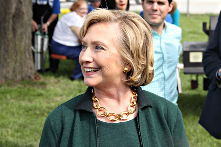 Hillary Clinton visits the Harkin Steak Fry in Indianola (WHO-HD/Sam Hoyle)
