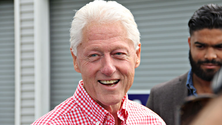 President Bill Clinton at the Harkin Steak Fry (WHO-HD/Sam Hoyle)