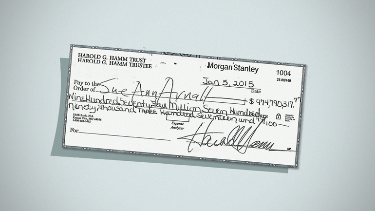 Ex Rejects Divorce Check